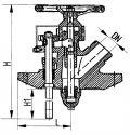 Клапан запорный бортовой с двухсторонним приводом