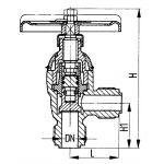 Клапан запорный штуцерный угловой