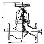 Клапан невозвратно-запорный фланцевый проходной сальниковый