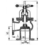 Кингстон клапанного типа фланцевый сальниковый