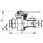 Кран дюрито-цапковый проходной сальниковый