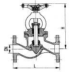 Клапан запорный фланцевый проходной сальниковый специальный