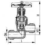Клапан запорный штуцерный проходной сальниковый