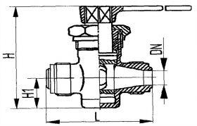 Кран штуцерный трехходовой сальниковый