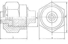 Соединение штуцерно-торцовое накидное внахлестку